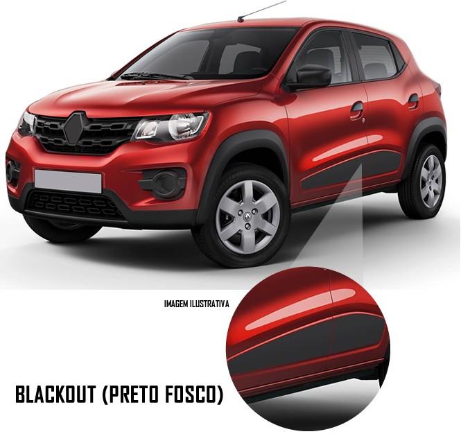 Adesivo Lateral Renault Kwid - Blackout (Preto Fosco)