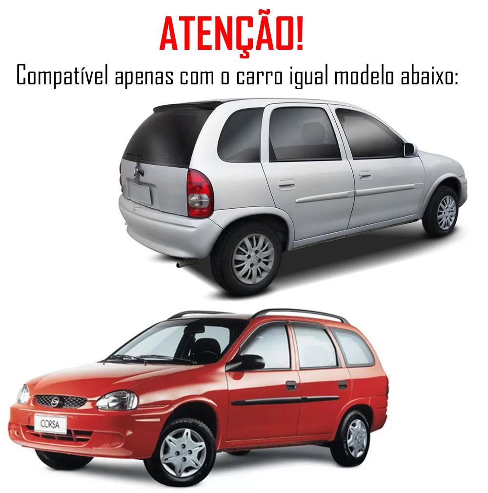 Aerofólio TG Poli Chevrolet Corsa Hatch e Wagon 1ª Geração 1994 á 2001 30 LEDS 4 Portas Preto