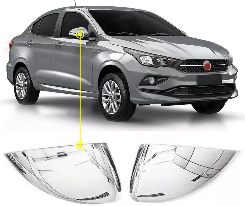 Aplique Cromado Retrovisor Fiat Cronos 2 Peças