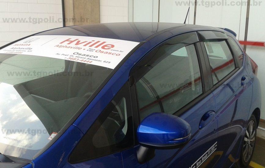 Calha Chuva Defletor TG Poli Honda Fit 2015 2016 2017 2018 2019 2020 - 4 Portas