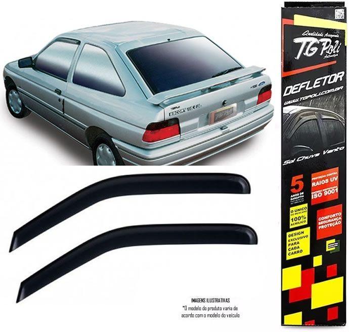 Calha Chuva Defletor TG Poli Adaptável Para Ford Escort Europeu 1993 1993 1995 1996 - 2 Portas