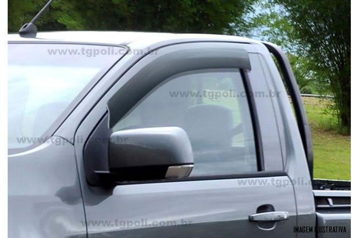 Calha Chuva Defletor TG Poli Chevrolet Nova S10 Cabine Simples 2012 2013 2014 2015 2016 2017 2018 2019 - 2 Portas