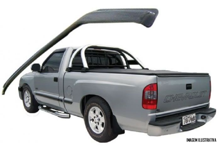 Calha Chuva Defletor TG Poli Chevrolet S10 Cabine Simples / Estendida 1995 1996 1997 1998 1999 2000 2001 2002 2003 2004 2005 2006 2007 2008 2009 2010 2011 - 2 Portas