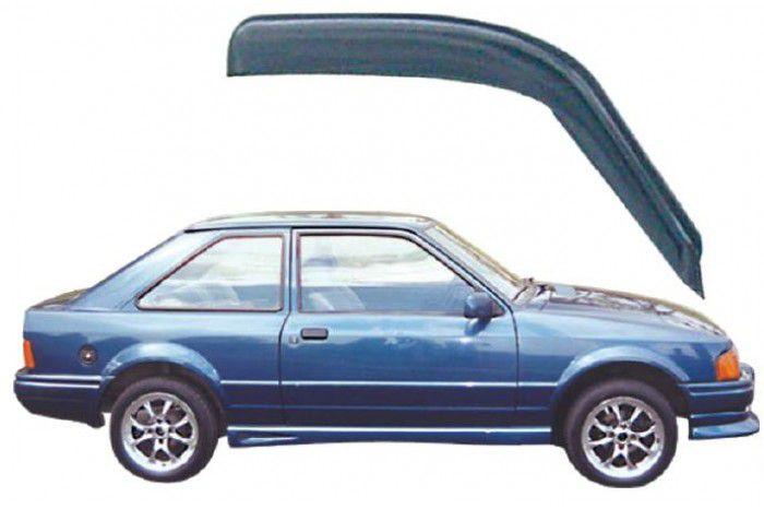 Calha Chuva Defletor TG Poli Ford Escort Hobby 1984 1985 1986 1987 1988 1989 1990 1991 1992 1993 1994 1995 1996 - 2 Portas