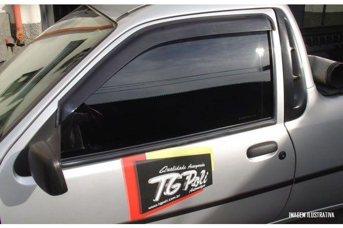 Calha Chuva Defletor TG Poli Ford Fiesta Hatch 1996  1997 1998 1999 2000 2001 2002 2003 Courier 1997 1998 1999 2000 2001 2002 2003 2004 2005 2006 2007 2008 2009 2010 2011 2012 2013 - 2 Portas