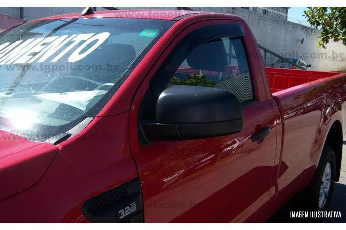 Calha Chuva Defletor TG Poli Ford Nova Ranger Cabine Simples 2013 2014 2015 2016 - 2 Portas