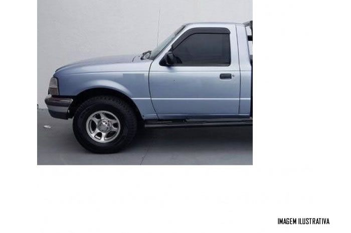 Calha Chuva Defletor TG Poli Ford Ranger Cabine Simples / Estendida 1996 1997 1998 1999 2000 2001 2002 2003 2004 2005 2006 2007 2008 2009 2010 2011 2012 - 2 Portas