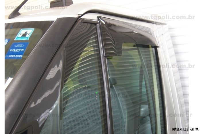 Calha Chuva Defletor TG Poli Ford Transit 2010 2011 2012 2013 2014 2015 - 2 Portas