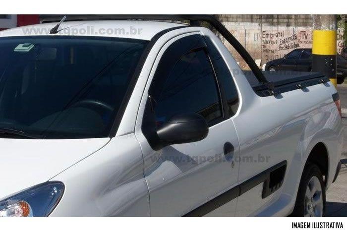 Calha Chuva Defletor TG Poli Peugeot Hoggar 2010 2011 2012 2013 2014 - 2 Portas