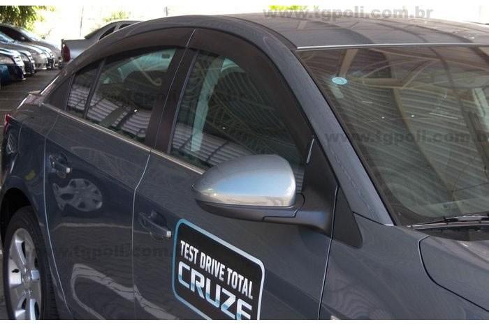 Calha Chuva Defletor TG Poli Chevrolet Cruze Sedan 2011 2012 2013 2014 2015 2016 2017 - 4 Portas