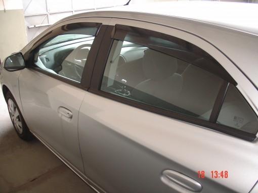 Calha de Chuva Chevrolet Onix 2013 2014 2015 2016 2017 2018 Prisma 2013 2014 2015 2016 2017 2018 - 4 Portas - Original + Primer Aderente