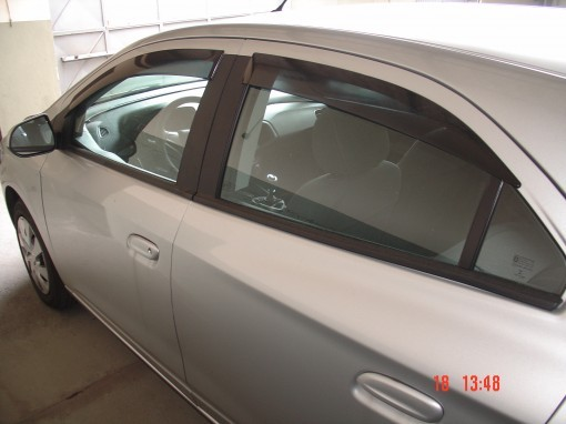 Calha Chuva Defletor TG Poli Chevrolet Onix 2012 2013 2014 2015 2016 2017 2018 2019 2020 Prisma 2013 2014 2015 2016 2017 2018 2019 2020- 4 Portas