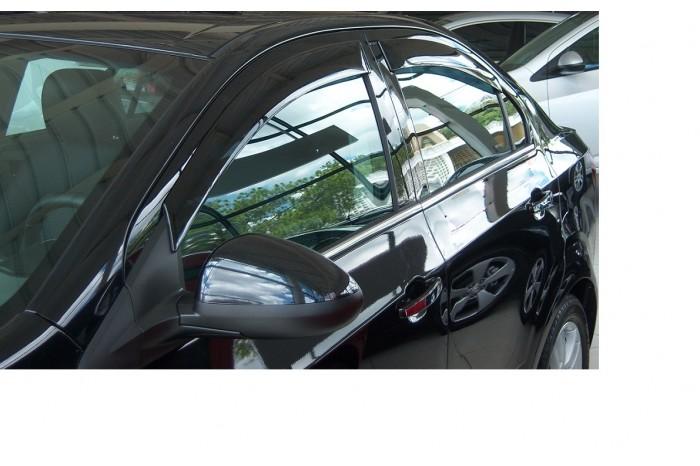 Calha de Chuva Chevrolet Sonic Sedan 2011 2012 2013 2014 2015 - 4 Portas - Original + Primer Aderente