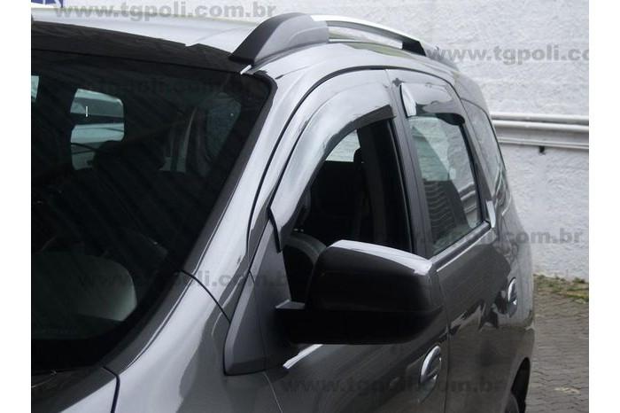 Calha Chuva Defletor TG Poli Chevrolet Spin 2012 2013 2014 2015 2016 2017 2018 2019 2020 - 4 Portas