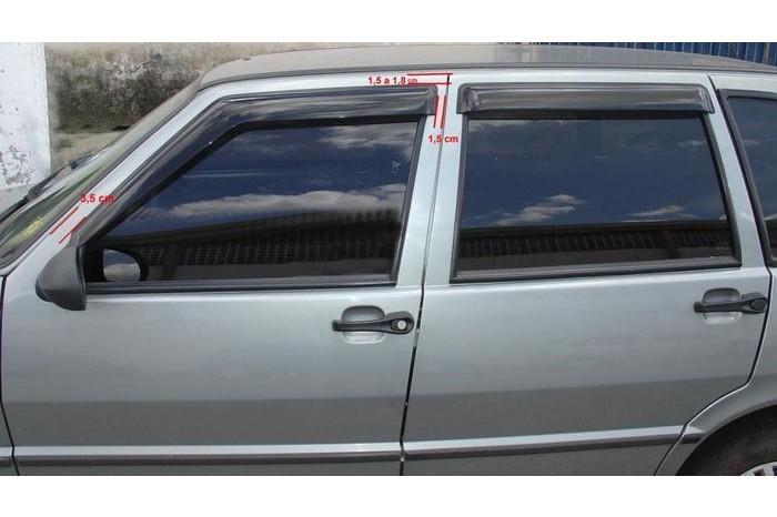 Calha de Chuva Fiat Uno / Premio / Elba 1985 à 2011 Mille 2012 2013 - 4 Portas - Original + Primer Adere