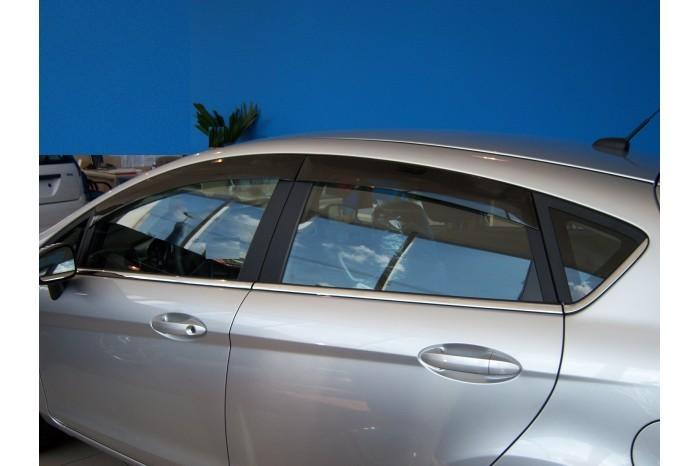 Calha Chuva Defletor TG Poli Ford New Fiesta Hatch 2011 2012 2013 2014 2015 2016 2017 2018 2019 - 4 Portas