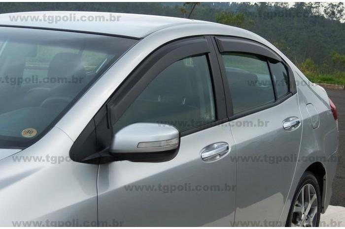 Calha Chuva Defletor TG Poli Honda City 2009 2010 2011 2012 2013 2014 - 4 Portas