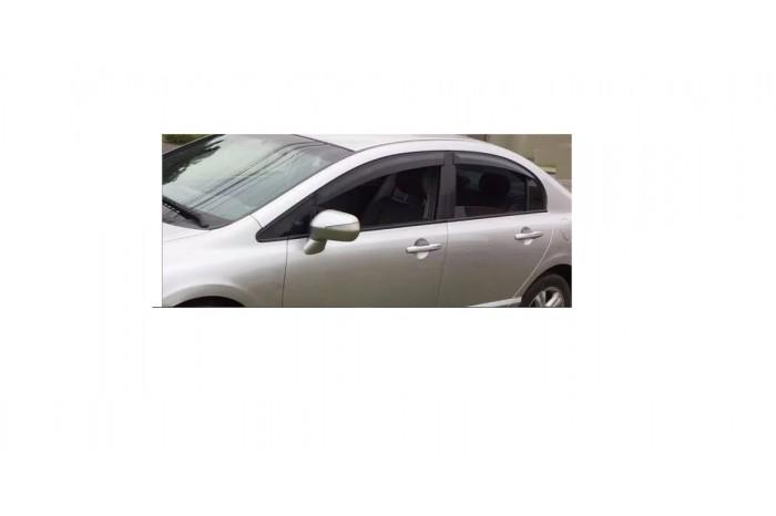 Calha de Chuva Honda New Civic 2007 2008 2009 2010 2011 - 4 Portas - Original + Primer Aderente