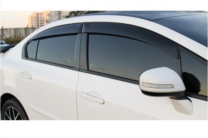 Calha de Chuva Honda New Civic 2012 2013 2014 2015 2016 - 4 Portas - Original + Primer Aderente