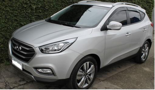 Calha Chuva Defletor TG Poli Hyundai IX35 2011 2012 2013 2014 2015 2016 2017 2018 2019 2020 - 4 Portas