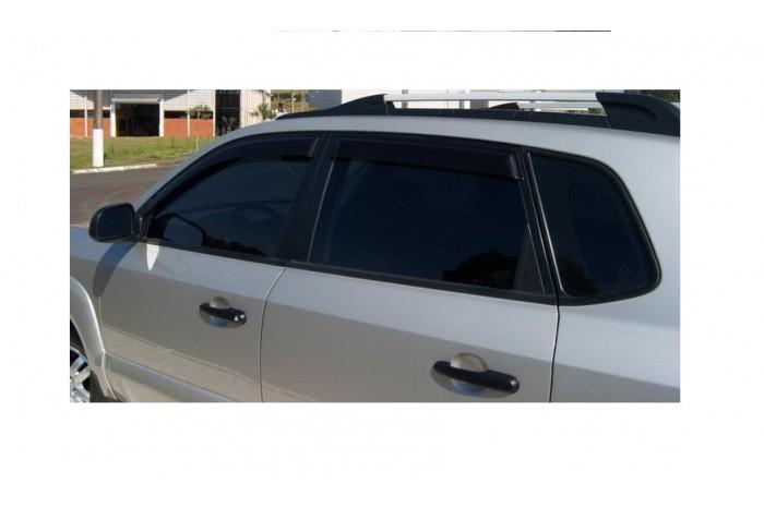 Calha Chuva Defletor TG Poli Hyundai Tucson 2004 2005 2006 2007 2008 2009 2010 2011 2012 2013 2014 2015 2016 2017 - 4 Portas