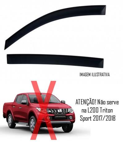 025e64703 ... Calha de Chuva Mitsubishi L200 Triton 2007 2008 2009 2010 2011 2012  2013 2014 2015 2016