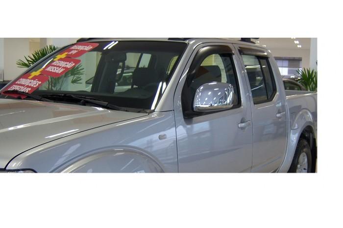 Calha Chuva Defletor TG Poli Nissan Frontier 2008 2009 2010 2011 2012 2013 2014 2015 2016 - 4 Portas