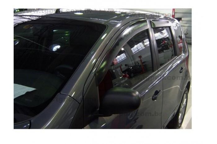 Calha Chuva Defletor TG Poli Nissan Livina e Grand Livina 2009 2010 2011 2012 2013 2014 2015 - 4 Portas