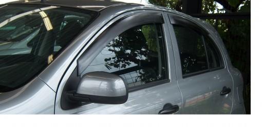 Calha Chuva Defletor TG Poli Nissan March 2011 2012 2013 2014 2015 2016 2017 2018 2019 2020 - 4 Portas