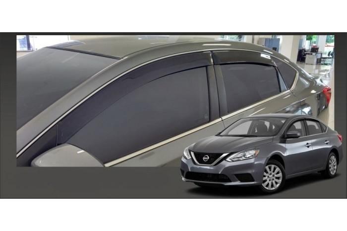 Calha Chuva Defletor TG Poli Nissan Sentra 2014 2015 2016 2017 2018 2019 2020 - 4 Portas