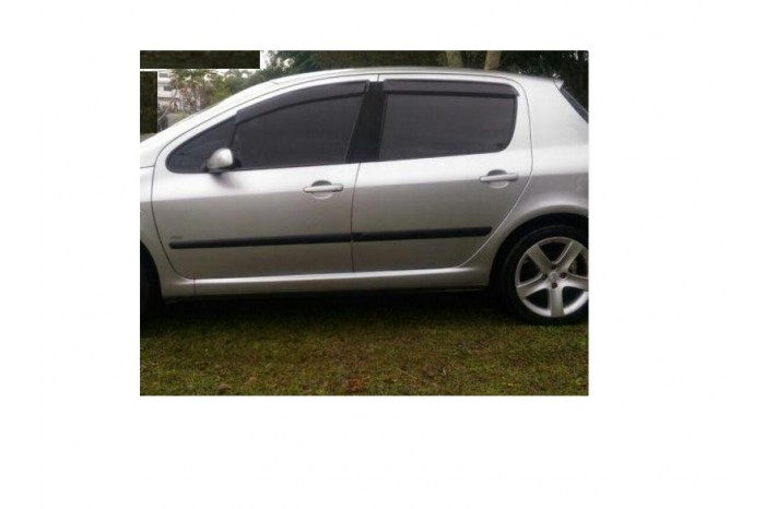Calha Chuva Defletor TG Poli Peugeot 307 Hatch Sedan 2001 2002 2003 2004 2005 2006 2007 2008 2009 2010 2011 2012 - 4 Portas