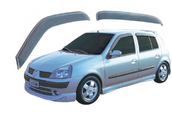 Calha Chuva Defletor TG Poli Renault Clio Hatch e Sedan 2000 2001 2002 2003 2004 2005 2006 2007 2008 2009 2010 2011 2012 2013 2014 2015 2016 - 4 Portas