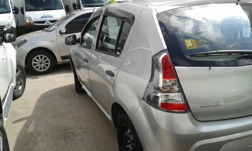 Calha de Chuva Renault Sandero 2007 2008 2009 2010 2011 2012 2013 2014 - 4 Portas - Original + Primer Aderente