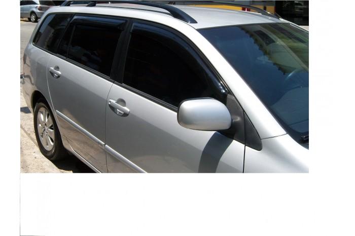 Calha Chuva Defletor TG Poli Toyota Corolla Fielder 2004 2005 2006 2007 2008 - 4 Portas