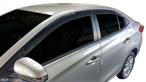 Calha Chuva Defletor TG Poli Toyota Yaris Sedan 2018 2019 2020 - 4 Portas