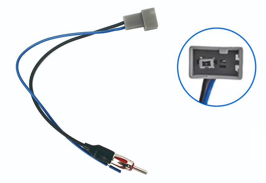 Chicote Plug Adaptador de Antena Honda Fit 2007 2008 2009 2010 2011 2012 2013 2014 New Civic 2007 2008 2009 2010 2011 CRV 2009 2010 2011 - Quadrado