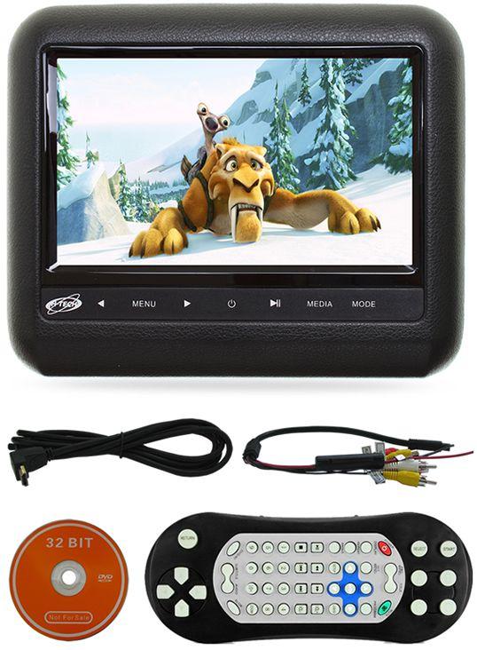 """DVD Player Automotivo 2 DIN E-Tech Universal Tela 6,2"""" - Bluetooth Com Entrada USB Entrada Cartão de Memória Rádio AM FM + Encosto de Cabeça de Sobrepor + Câmera de Ré"""