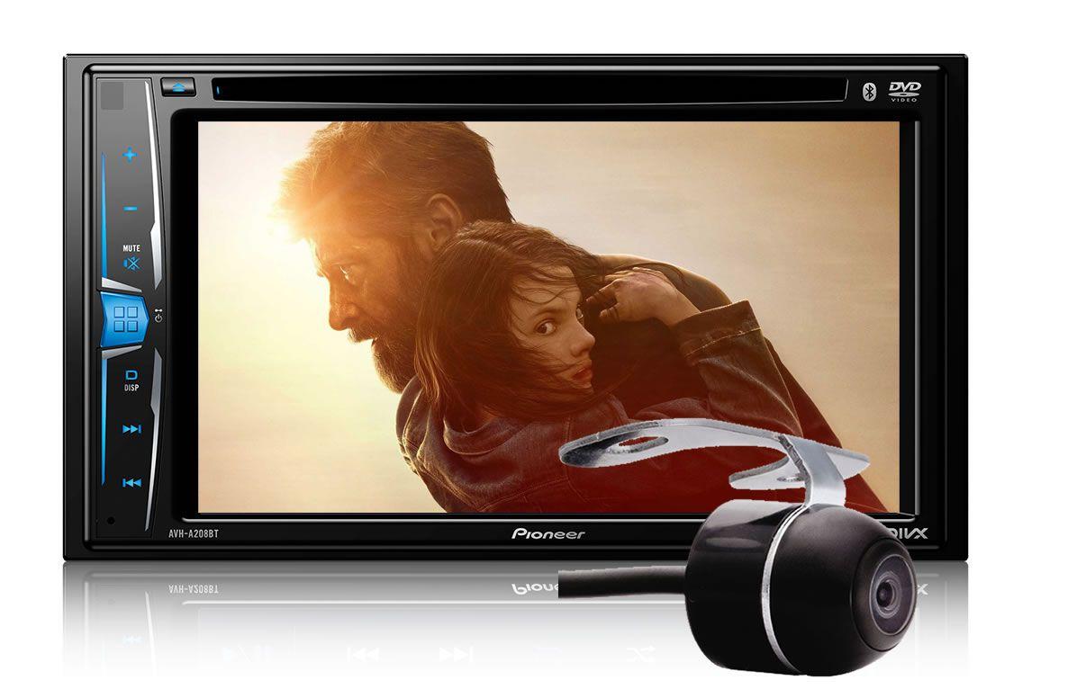"""DVD Player Automotivo 2 DIN Pioneer AVH-A208BT Tela 6,2"""" - Bluetooth Com Entrada USB + Câmera de Ré"""