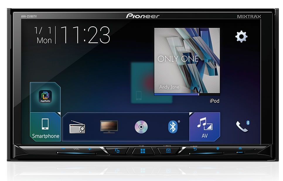 "DVD Player Automotivo 2 Din Pioneer AVH-Z5180TV Tela 7"" Polegadas Com TV Digital Bluetooth Entrada USB Mixtrax Entrada Auxiliar MP3 e TouchScreen + Câmera de Ré"