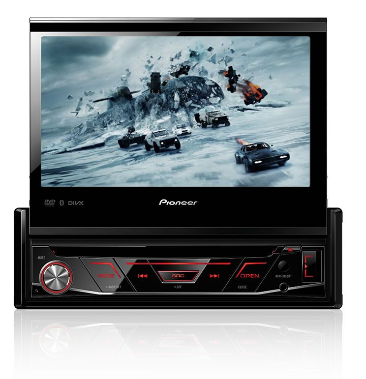 DVD Player Automotivo Retrátil Pioneer AVH-3180BT Tela 7 Polegadas Com Bluetooth Entrada USB Entrada Auxiliar TouchScreen e MP3 + Câmera de Ré