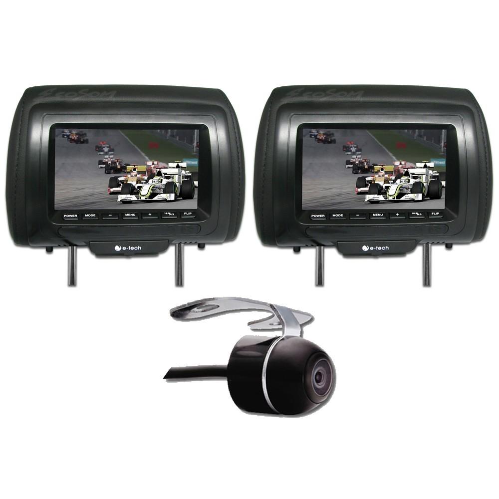 DVD Player Automotivo Retrátil Pioneer AVH-3180BT Tela 7 Polegadas Com Bluetooth Entrada USB Entrada Auxiliar TouchScreen e MP3 + 2 Encosto de Cabeça AV + Câmera de Ré Grátis