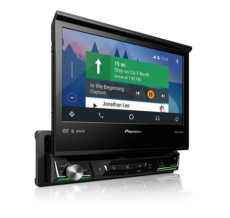 DVD Player Automotivo Retrátil Pioneer AVH-Z7180TV Tela 7 Polegadas Com TV Digital Bluetooth Entrada USB Entrada Auxiliar TouchScreen Mixtrax e MP3 + Câmera de Ré