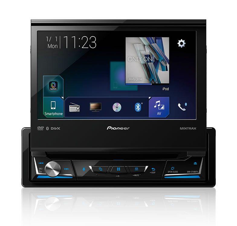 DVD Player Automotivo Retrátil Pioneer AVH-Z7180TV Tela 7 Polegadas Com TV Digital Bluetooth Entrada USB Entrada Auxiliar TouchScreen Mixtrax e MP3 + Câmera de Ré