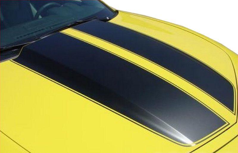 Faixa Adesiva Esportiva do Capô Chevrolet Camaro 2011 2012 2013 - Preto Fosco ou Preto Brilhante