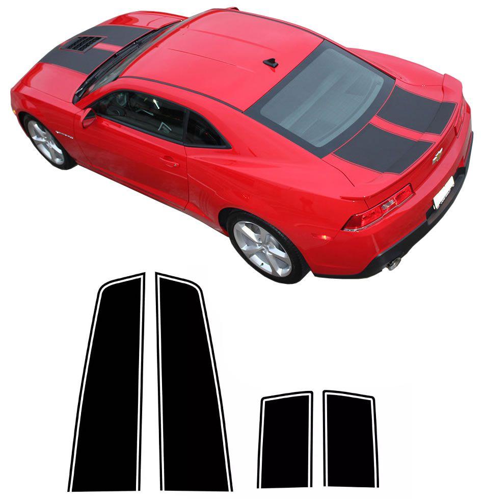 Faixa Adesiva Esportiva do Capô Chevrolet Camaro 2014 2015