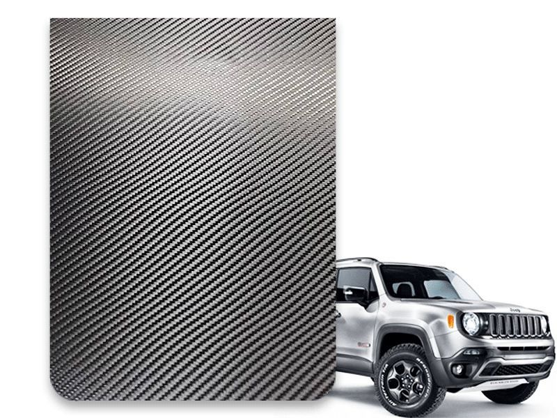 Faixa Adesiva Esportiva do Capô Jeep Renegade 2015 2016 2017 2018 2019 - Carbono