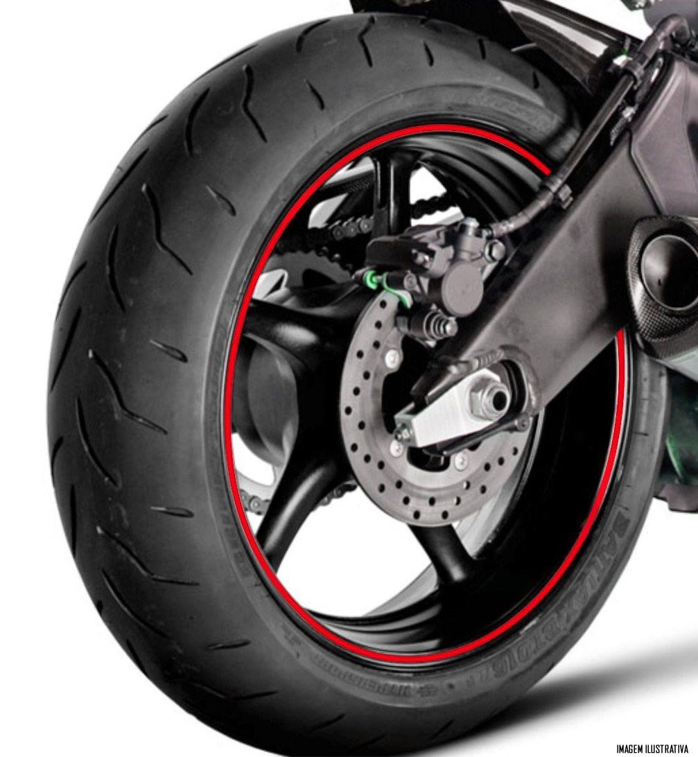 Faixa Refletiva De Roda Para Moto Aro 14 15 16 17 18 19 20 21 - 5mm