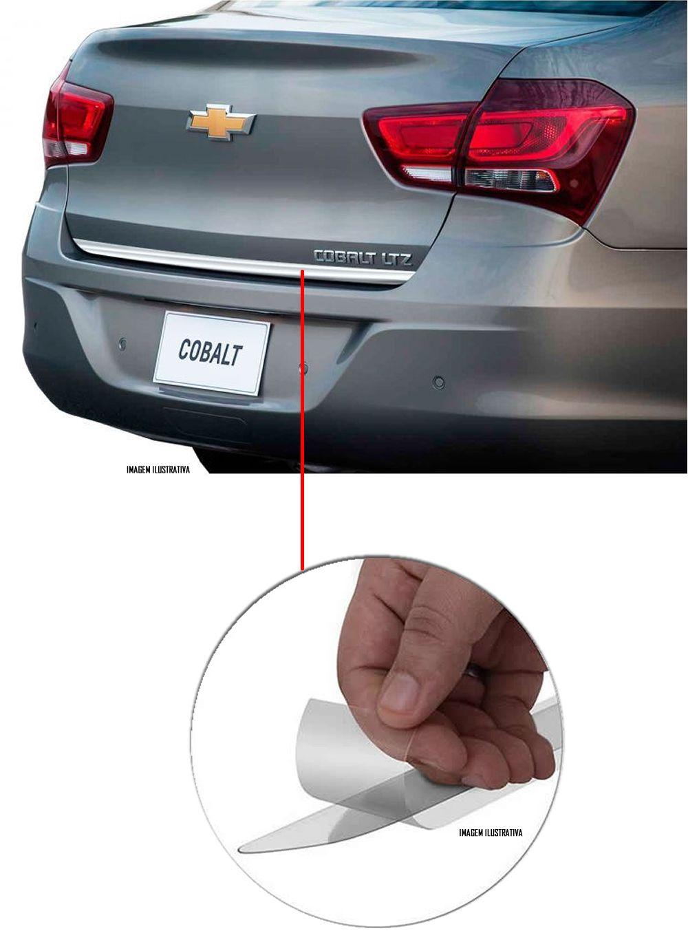 Friso Cromado Resinado Traseiro Porta Malas Chevrolet Cobalt 2016 2017 2018