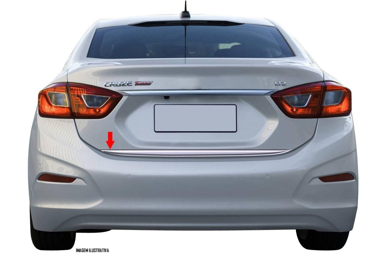 Friso Cromado Resinado Traseiro Porta Malas Chevrolet Cruze Turbo Sedan 2017 2018 2019