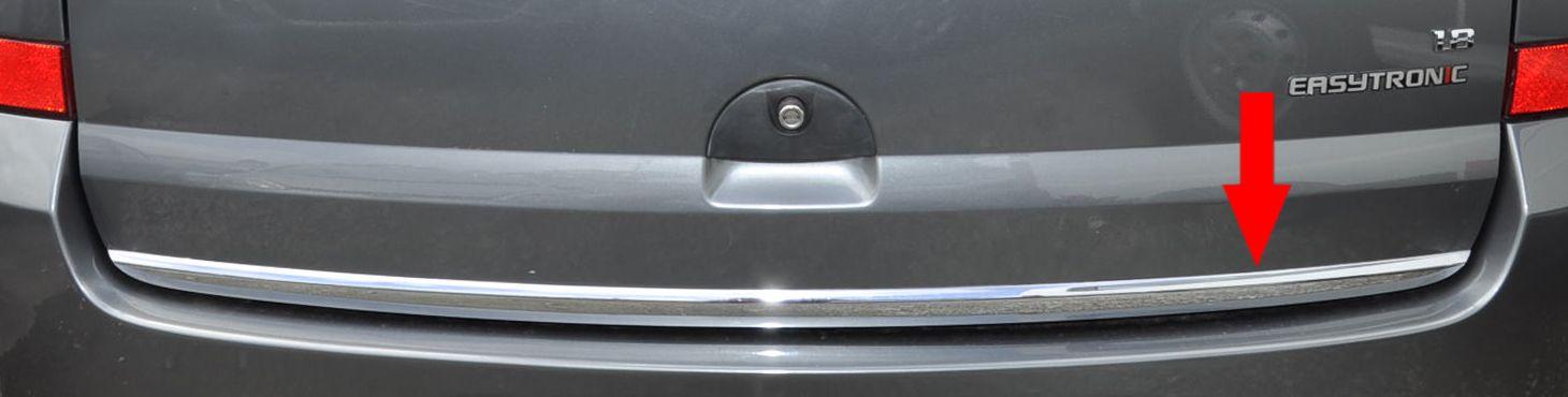 Friso Cromado Resinado Traseiro Porta Malas Chevrolet Meriva 2003 2004 2005 2006 2007 2008 2009 2010 2011 2012